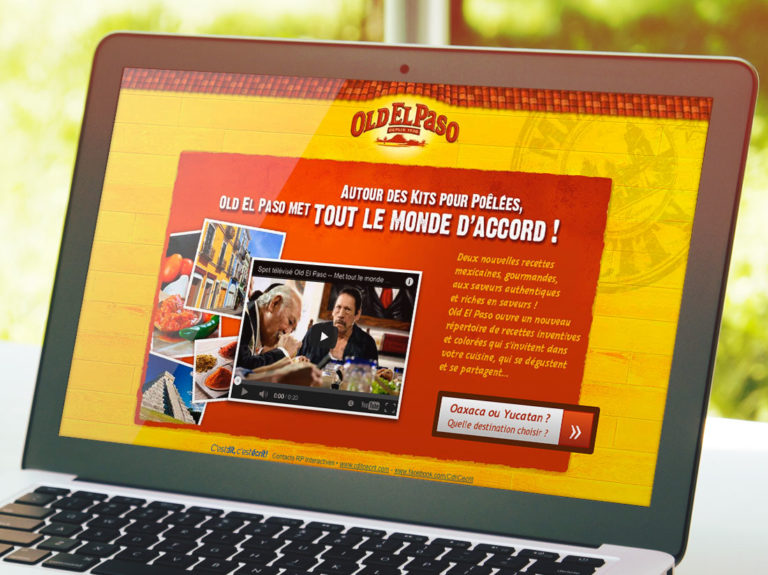 Old el paso mini site internet