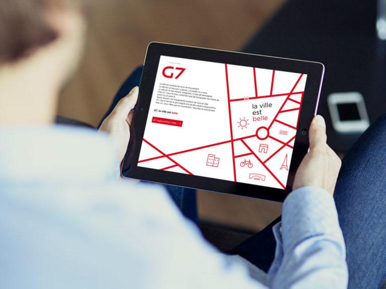 Site lancement nouvelle charte g7 taxi