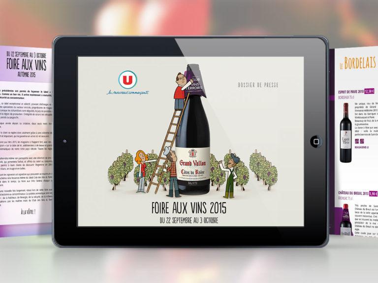Systeme u foire aux vins vitrine