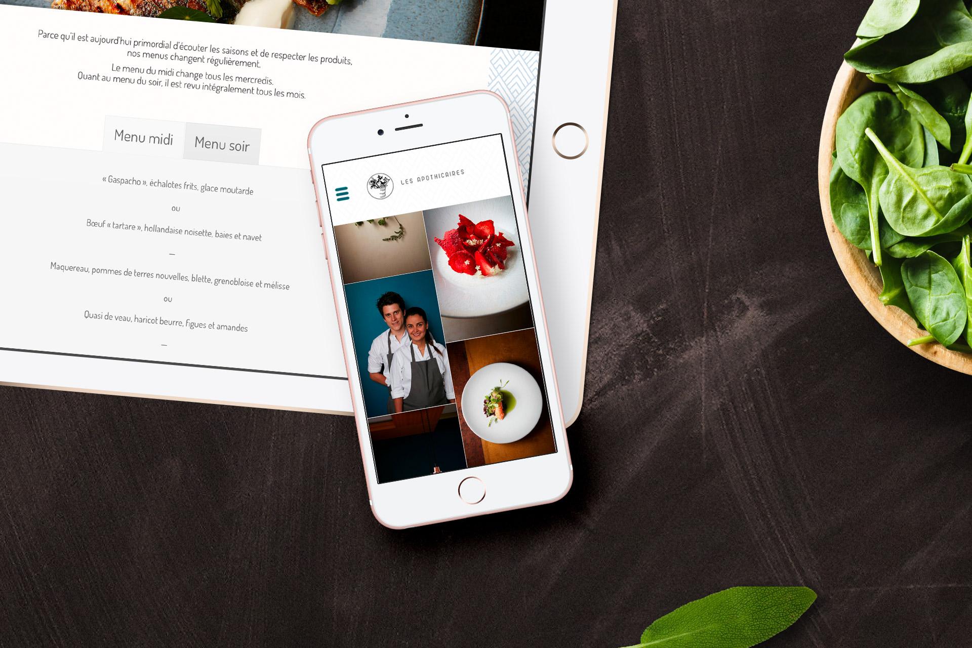 Restaurant site mobile reservation