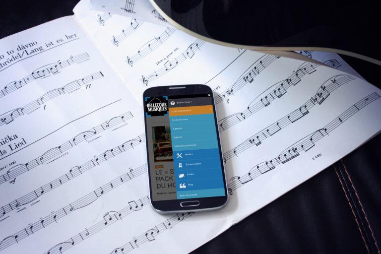 Bellecour musiques site mobile