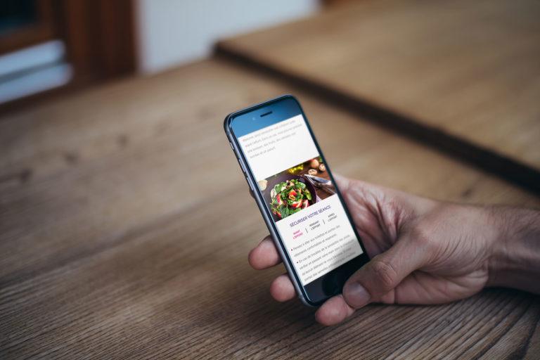 Site mobile application sante