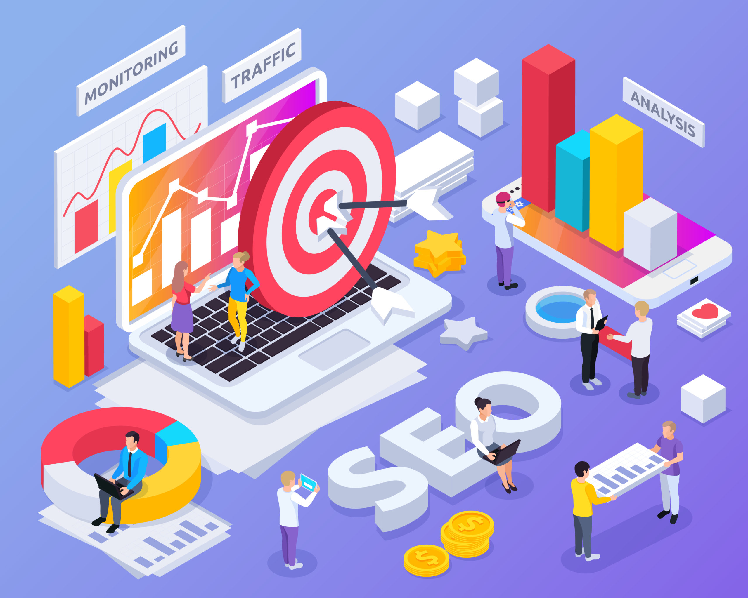 SEO - Illutration Isometric