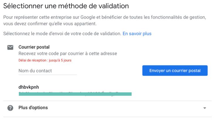 Sélectionner une méthode de validation