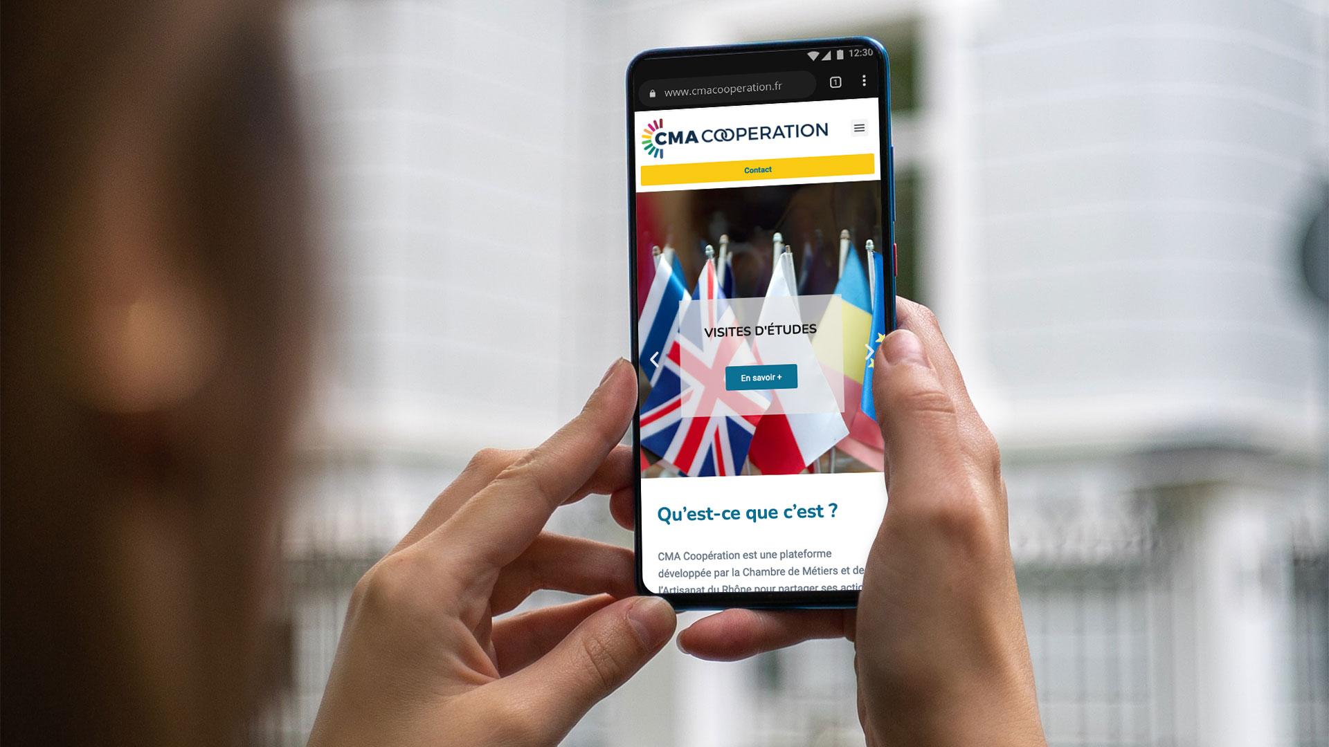 Cma coopération site mobile