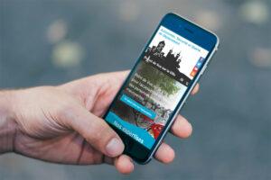 Site mobile accessible point de vue sur la ville